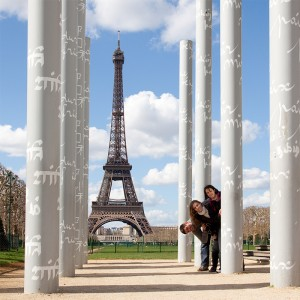 Eiffelturmfoto-Gruppe